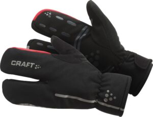 Siberian Split Finger Glove – Black/Bright red, 9/M