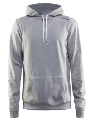 In The Zone Hood Herre – Grey Melange, XXL