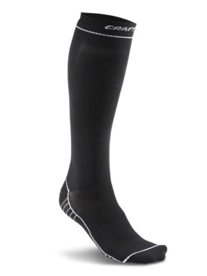 Compression Sock – Black/White, XL/45-48