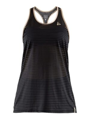 Vibe Mesh Tank Top Dame – Black/Champ, L