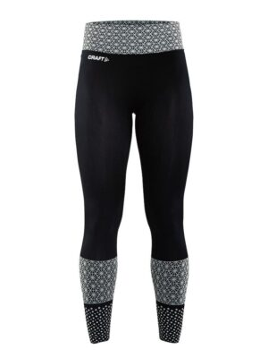 Core Block Tights Dame – Black/White, XL