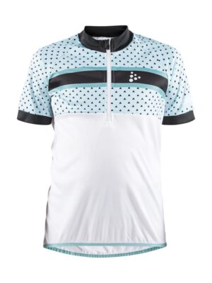 Bike Jersey J – White/Heal, 158/164