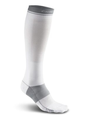 Compression Sock – White, S/39-42