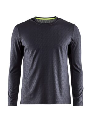 Breakaway LS Tee M – Gravel/Black, L