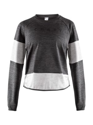 Breakaway Jersey Sweater W – Black Melange, S