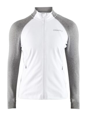 Urban Run Fuseknit Jacket W – White/Grey Melange, L