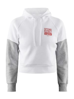 District Hood W – White, L