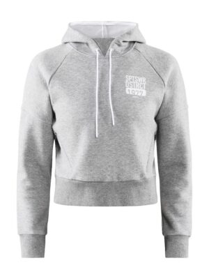 District Hood W – Grey Melange, XL