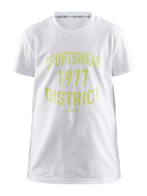 District Tee Jr – White, 158/164