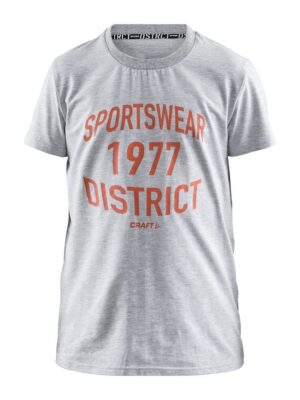 District Tee Jr – Grey Melange, 158/164