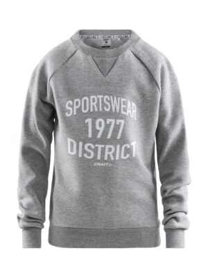 District Crewneck Jr – Grey Melange, 158/164