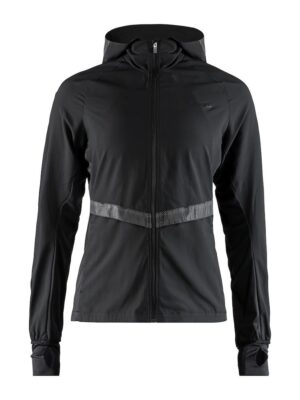 Urban Run Hood Jacket W – Black/Silver, L