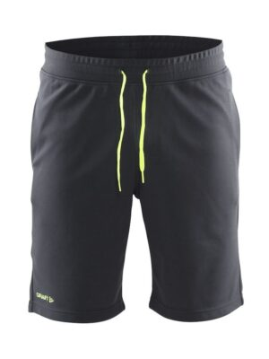 In-the-zone Sweatshort Herre – Asphalt, XL