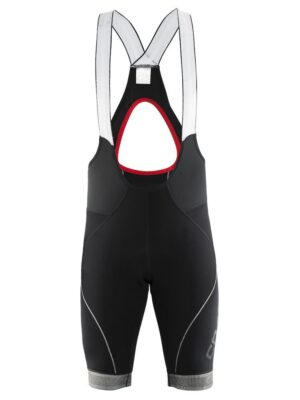 Shield Bib Shorts M – Black/Bright red, XXL