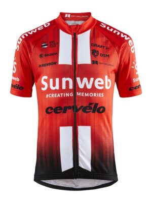Team Sunweb Replica Ss Jersey J – Sunweb Red, 158/164