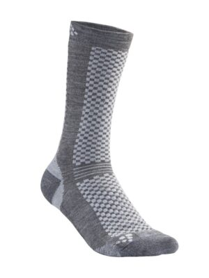 Warm Mid 2-Pack Sock – Granite/Platinum, 46/48