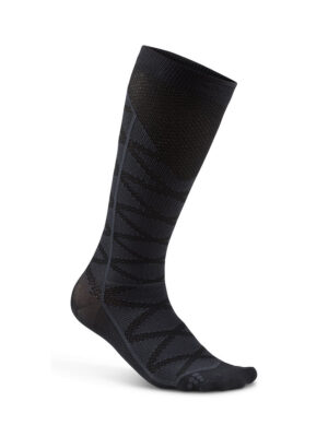 Compression Pattern Sock – Black/Gravel, 46/48