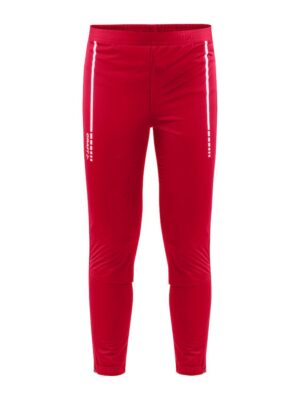 Warm Club 3/4 Zip Pants J – Bright Red, 158/164