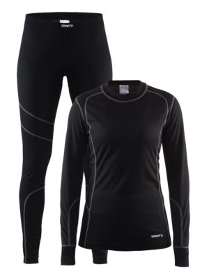 Baselayer Set W – Black/Granite, XXL