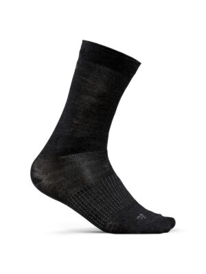 2-PACK WOOL LINER SOCK – BLACK/BURST, 46/48