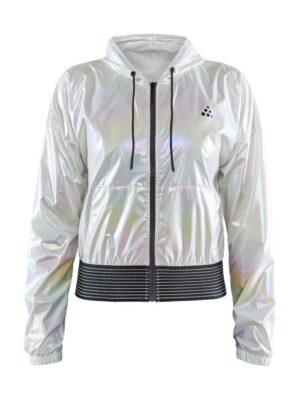 Unmtd Shiny Hood Jacket W – Silver, XL