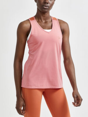 Adv Charge  Perforated Singlet W – Coral/Terracot, XL