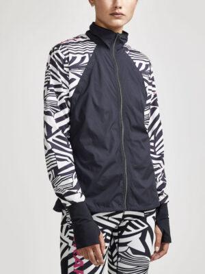 Dazzle Camo Wind Jacket W – Ash/Dazzle camo, XXL